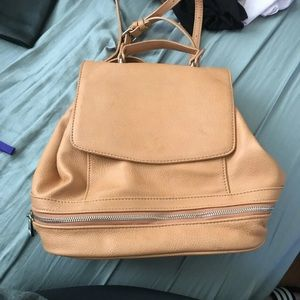 Tan free people convertible backpack